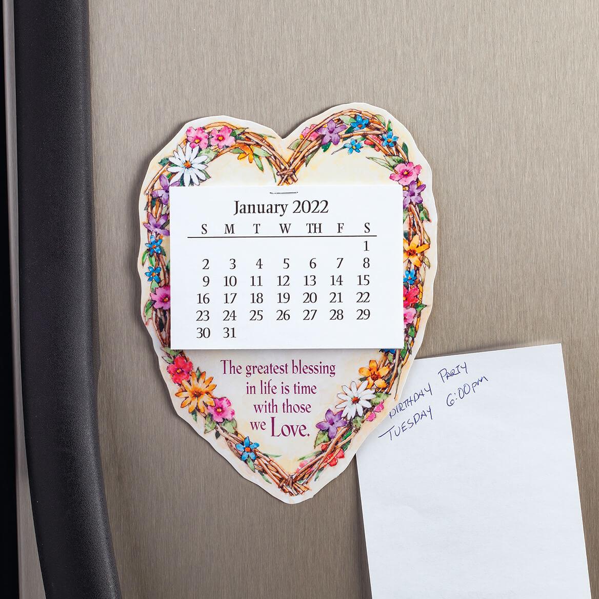 Large Heart Wreath Magnet Calendar-371785