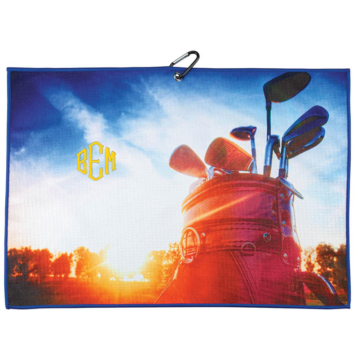 Personalized Horizontal Golf Bag Microfiber Golf Towel-371790