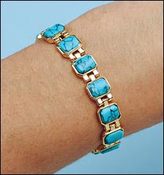 Фото #1: Turquoise Magnetic Bracelet
