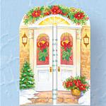 Holiday Door Christmas Verse Single Version card