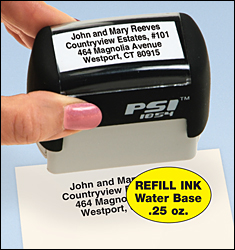 Self Inking Stamp Refill Self inking stamp refill fits our self inking stamper to provide an easy way to put your return address onto envelopes, mail-in coupons, sweepstakes entries, warranty cards, forms.