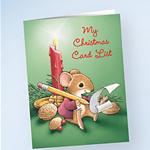 Christmas List Mouse card