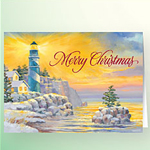 Glowing Winter Lighthouse Christmas Verse