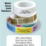 Personalized Roll Address Labels