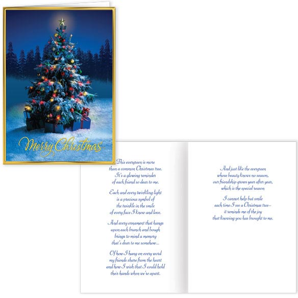 Friendship Tree Greeting Christmas Card