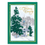 Christmas Cards - List of Blessings Embossed Set of 20