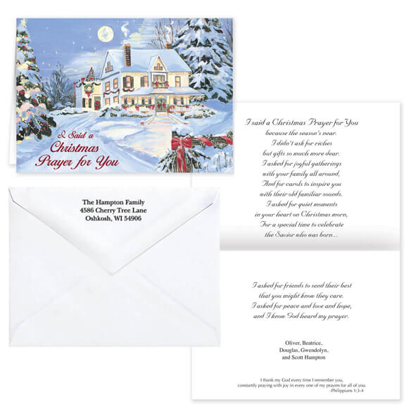 I Said A Christmas Prayer Religious Christmas Card Set of 20