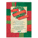 Christmas Cards - My Christmas Card List Wreath - Set Of 20