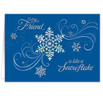 Secular - Personalized Snowflake Christmas Cards