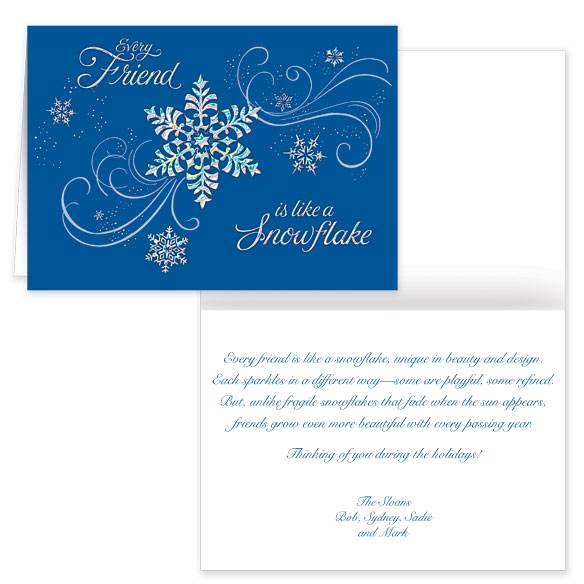 Personalized Snowflake Christmas Cards