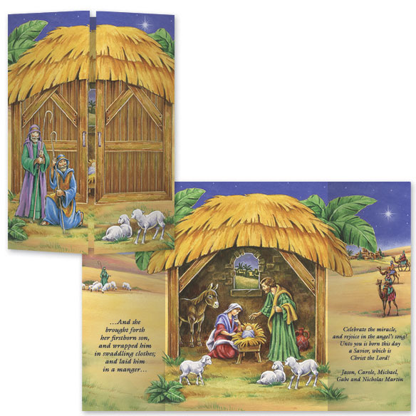 Gatefold Nativity Christmas Card Set/20