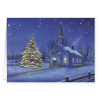 Christmas Cards - Country Church Christmas Card Set/20