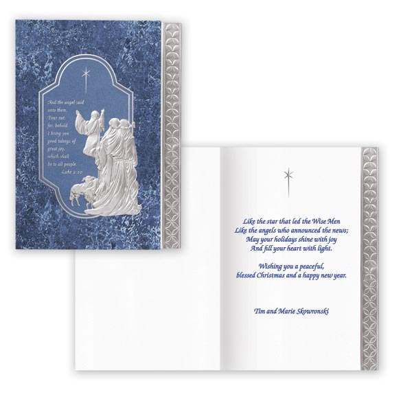 Silver Nativity Christmas Card Set/20 - View 1