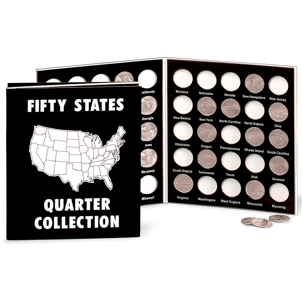 Commemorative State Quarters Black White Album-302690
