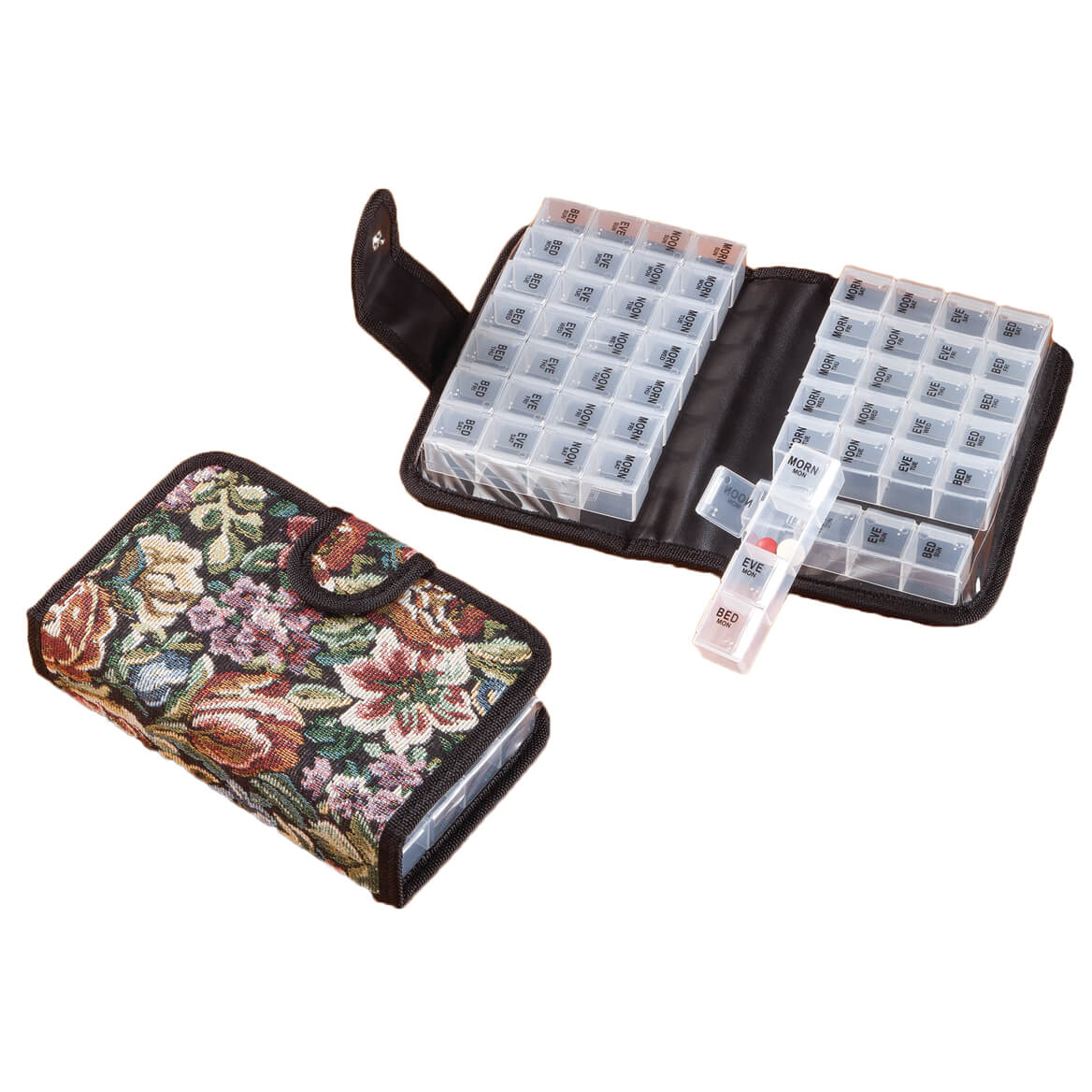 14 Day Pill Holder - 2 Week Pill Organizer - Walter Drake