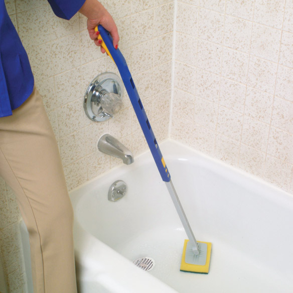 Telescopic Tub and Wall Scrubber