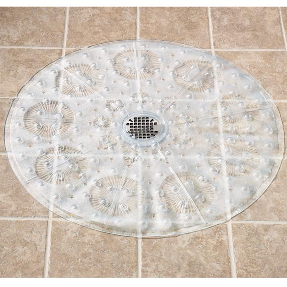Non Slip Clear Shower Mat No Slip Shower Mats Walter Drake