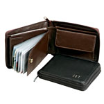 Handbags & Wallets - Personalized Leather Zipper Wallet