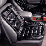 Auto & Travel - Leather Lumbar Cushion For Car