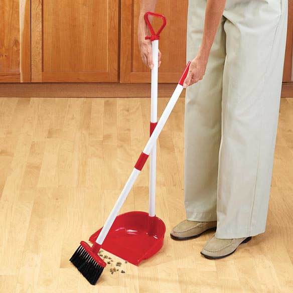 Long Handled Dust Pan and Broom