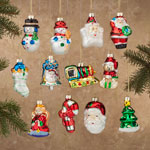 Holidays & Gifts - Christmas Glass Ornaments S/12
