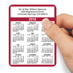 Calendars - Personalized Burgundy Self-Stick Calendars, Set of 100