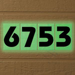 Sale - Glow In Dark House Numbers