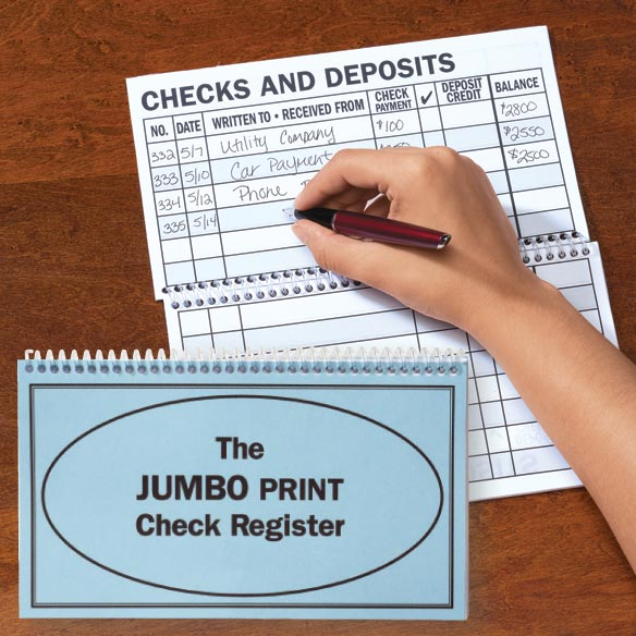 Large Print Check Register