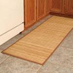"Bamboo Floor Mat, 24"" x 72"", Brown"