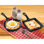 Mini Cast Iron Round And Square Skillet Set