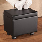 New - Rolling Storage Ottoman with Flip Cover