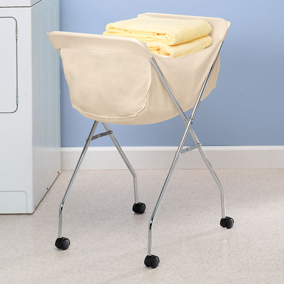 Laundry Cart With Wheels Rolling Laundry Basket Walter