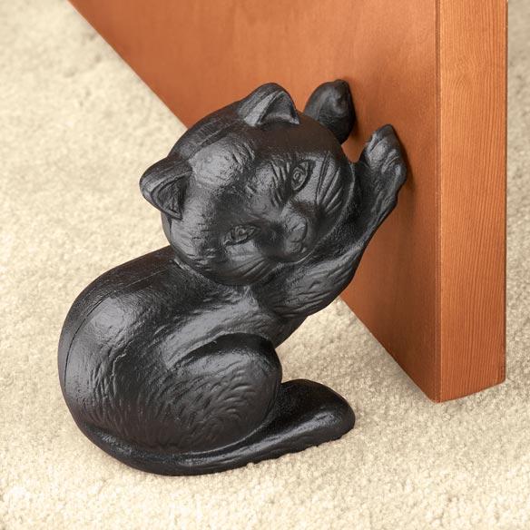 Iron cat doorstop cast iron doorstop pets home walter drake - Cast iron cat doorstop ...