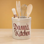 Organization & Decor - Personalized Stoneware Crock 2 Quart
