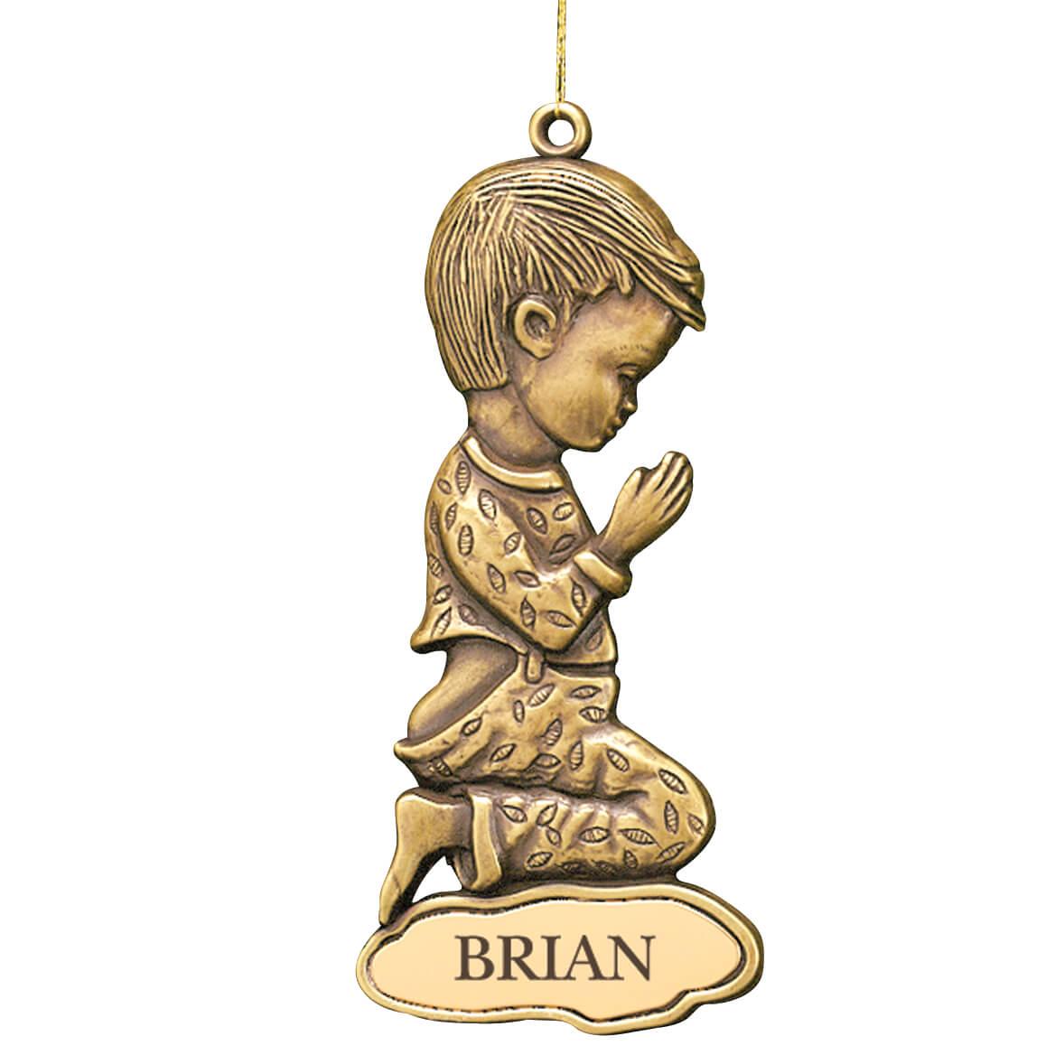 Personalized Bronze Boy Ornament-311060