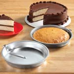 Easy Release Cake Pans - Set Of 2, Silver