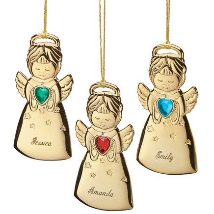 Personalized Angel with Heart Birthstone Ornament-311519