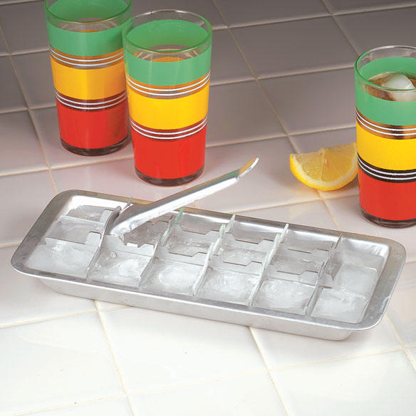 Old Fashioned Aluminum Ice Cube Tray