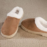 Footwear & Hosiery - Women's Suede Slippers