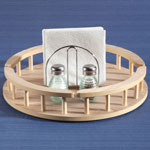 New - Large Wood Lazy Susan