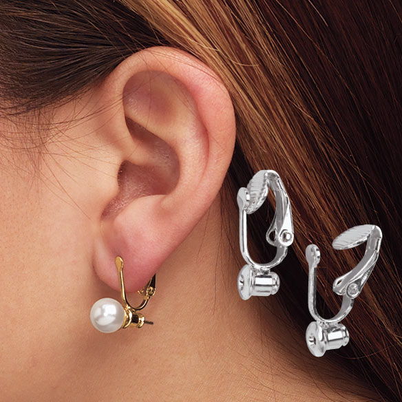 Clip On Earrings Converters - 6 Pairs