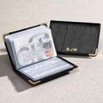 Handbags & Wallets - Personalized Leather Credit Card Holder