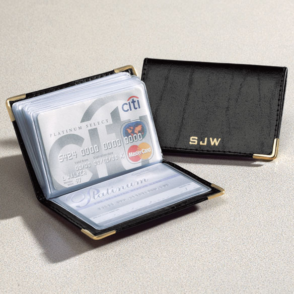 Personalized Leather Credit Card Holder