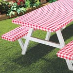 Outdoor Entertaining - Elastic Picnic Table Cover