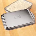"""Personalized Cake Pan With Lid, 13"""" x 9"""", Silver"""
