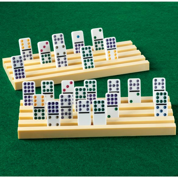 Domino Tile Holders and Dominoes