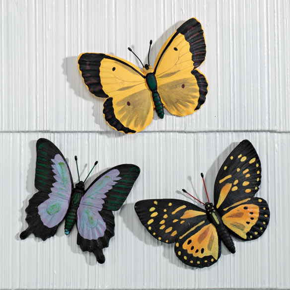 Butterfly Plaques Set of 3