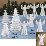 Crocheted Christmas Trees Set of 3