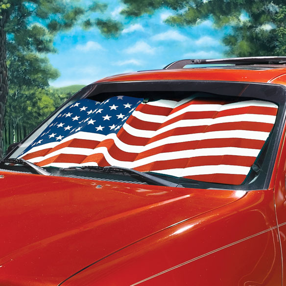 American Flag Sunshade
