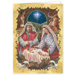 Religious - Holy Family Personalized Christmas Cards Set Of 20
